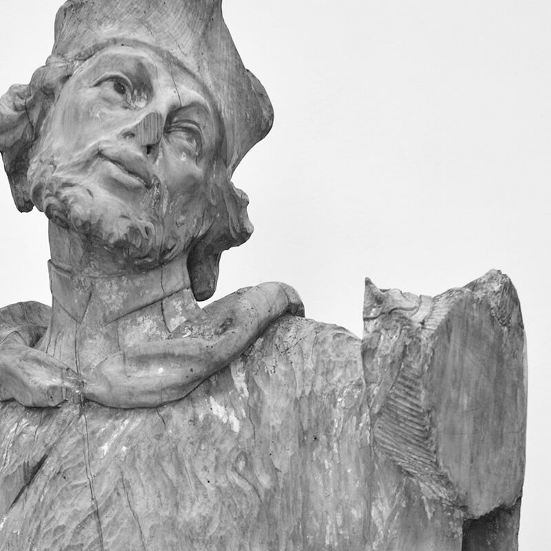 Konzervace dřevěných soch českých patronů pro Národní muzeum