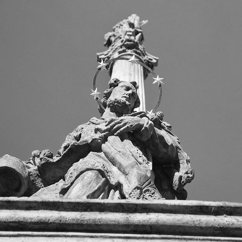 Restaurování mariánského sloupu v Benešově nad Ploučnicí