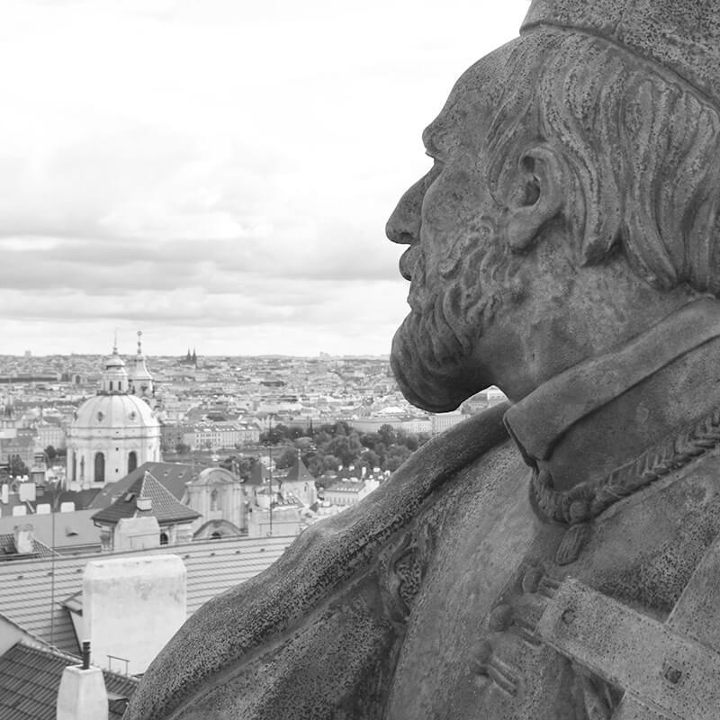 Restaurování sochy sv. Filipa z Neri v Praze na Hradčanech
